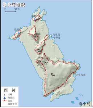 图5 北小岛地貌图
