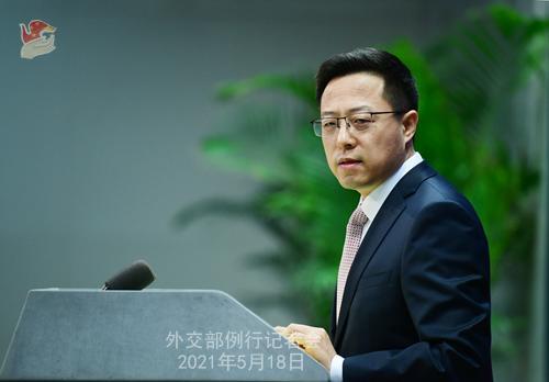 图:外交部发言人赵立坚。薛伟 摄