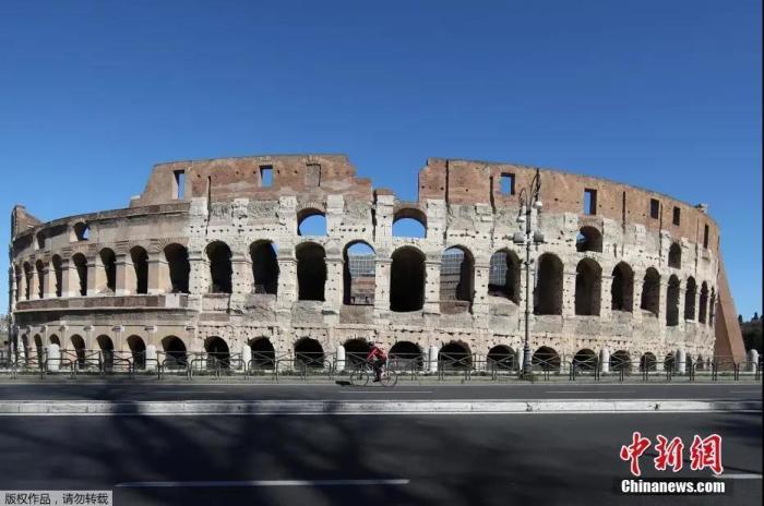 资料图:意大利首都罗马的斗兽场。