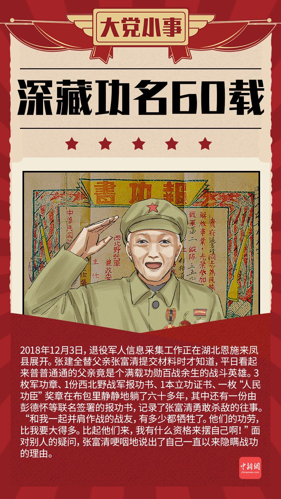 大党小事|战斗英雄深藏功名60载