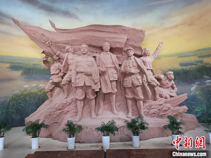 湘鄂西苏区革命烈士纪念馆。中新网任思雨 摄。