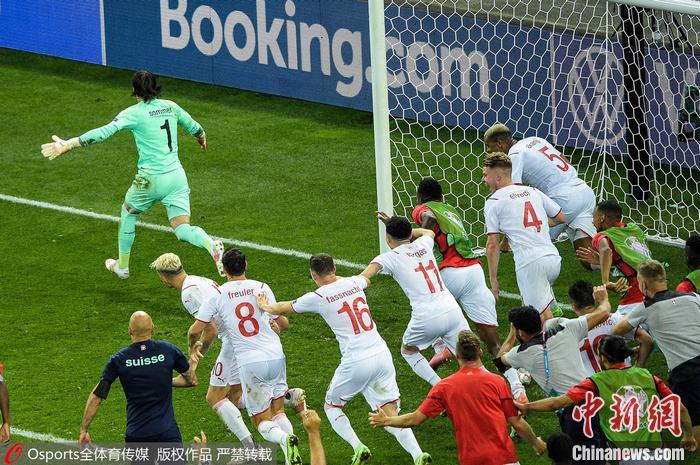 瑞士队庆祝胜利 图片来源:Osports全体育图片社