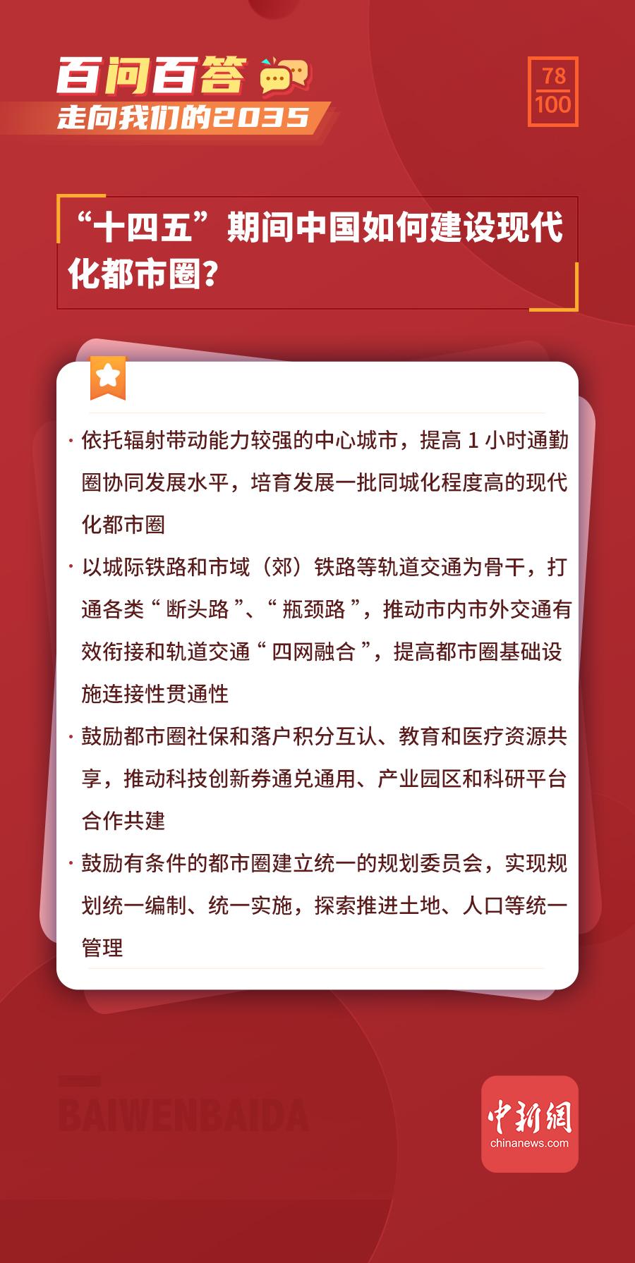 """【走向我们的2035·百问百答】""""十四五""""期间中国如何建设现代化都市圈?"""