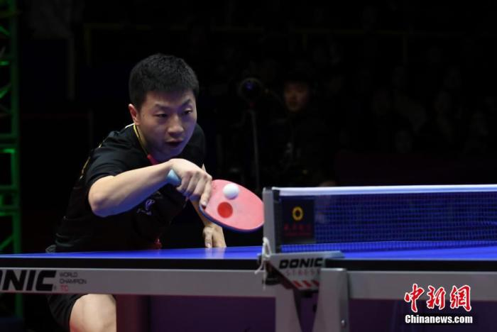 资料图:中国选手马龙在比赛中。安源 摄