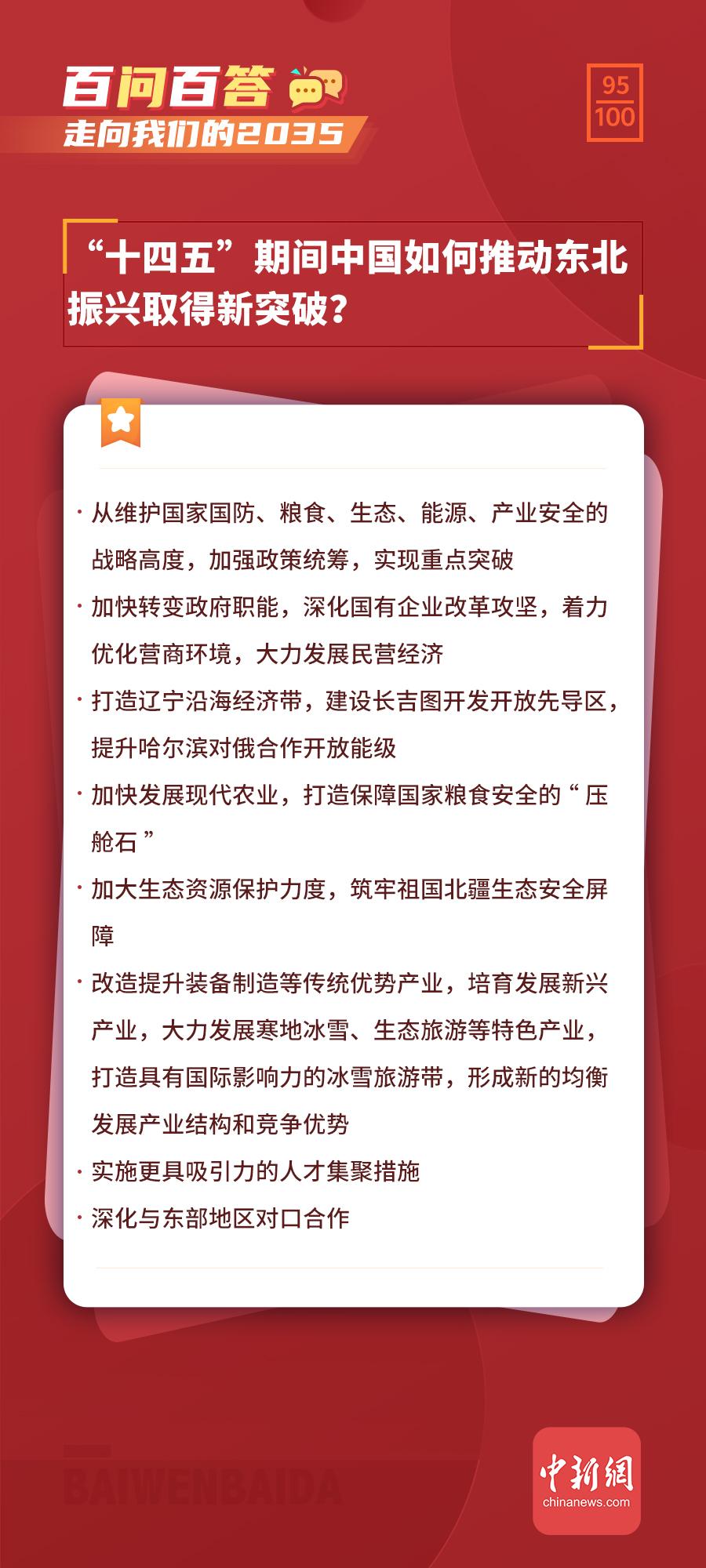 """【走向我们的2035·百问百答】""""十四五""""期间中国如何推动东北振兴取得新突破?"""