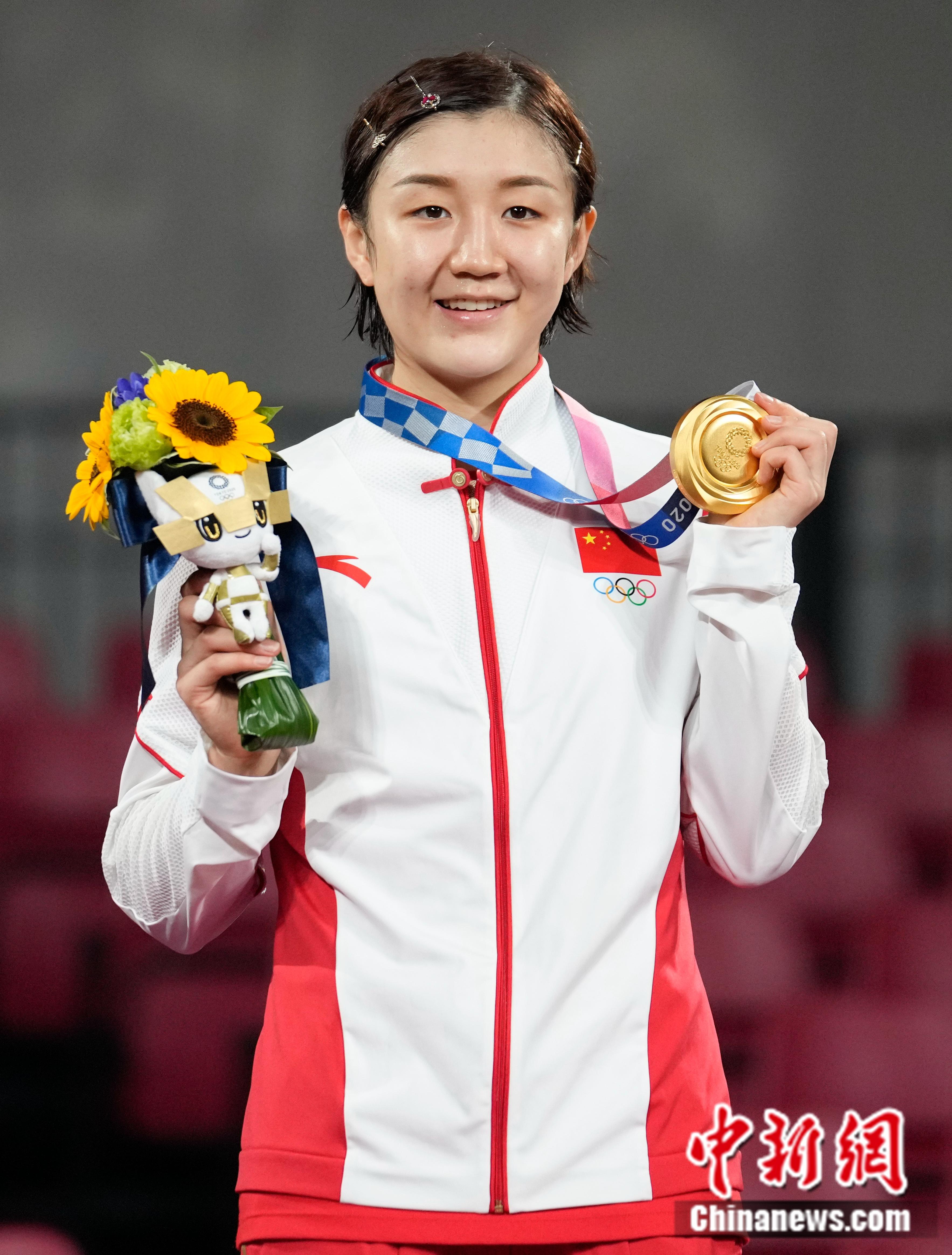 陈梦成国乒队史首夺女单奥运冠军年龄最大球员