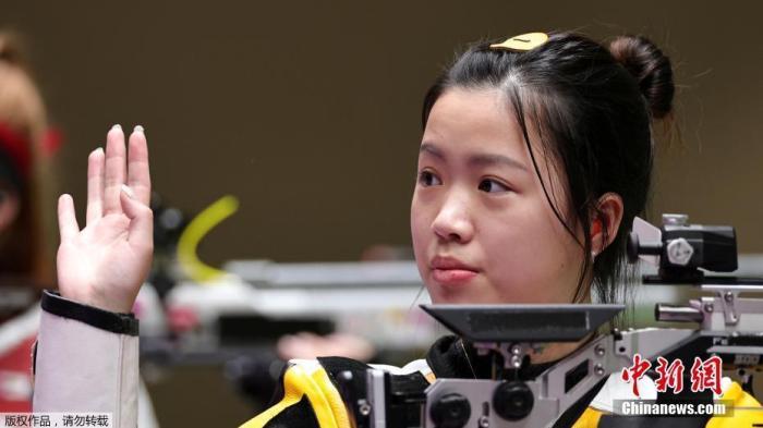 杨倩在奥运会比赛中