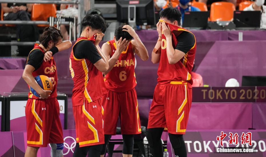 当地时间7月28日晚,在东京奥运会女子三人篮球铜牌战中,中国女子三人篮球队以16:14击败法国队,夺得了中国代表团在该项目上的首枚奖牌。中新社记者 杜洋 摄