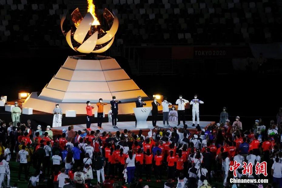 资料图:8月8日,第32届夏季奥林匹克运动会闭幕式在日本东京举行。图为闭幕式现场。<a target='_blank' href='http://www.chinanews.com/'>中新社</a>记者 韩海丹 摄