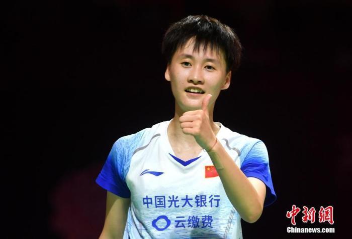资料图:陈雨菲在比赛中。中新社记者 吕明 摄