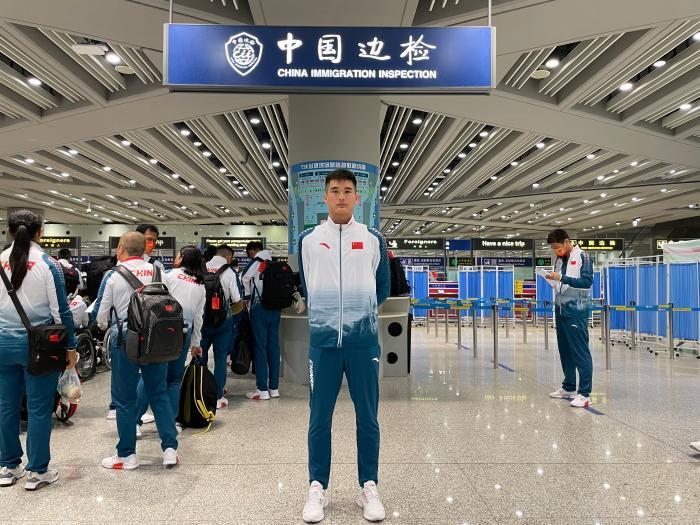 男子肢残田径运动员王浩 中国残联供图