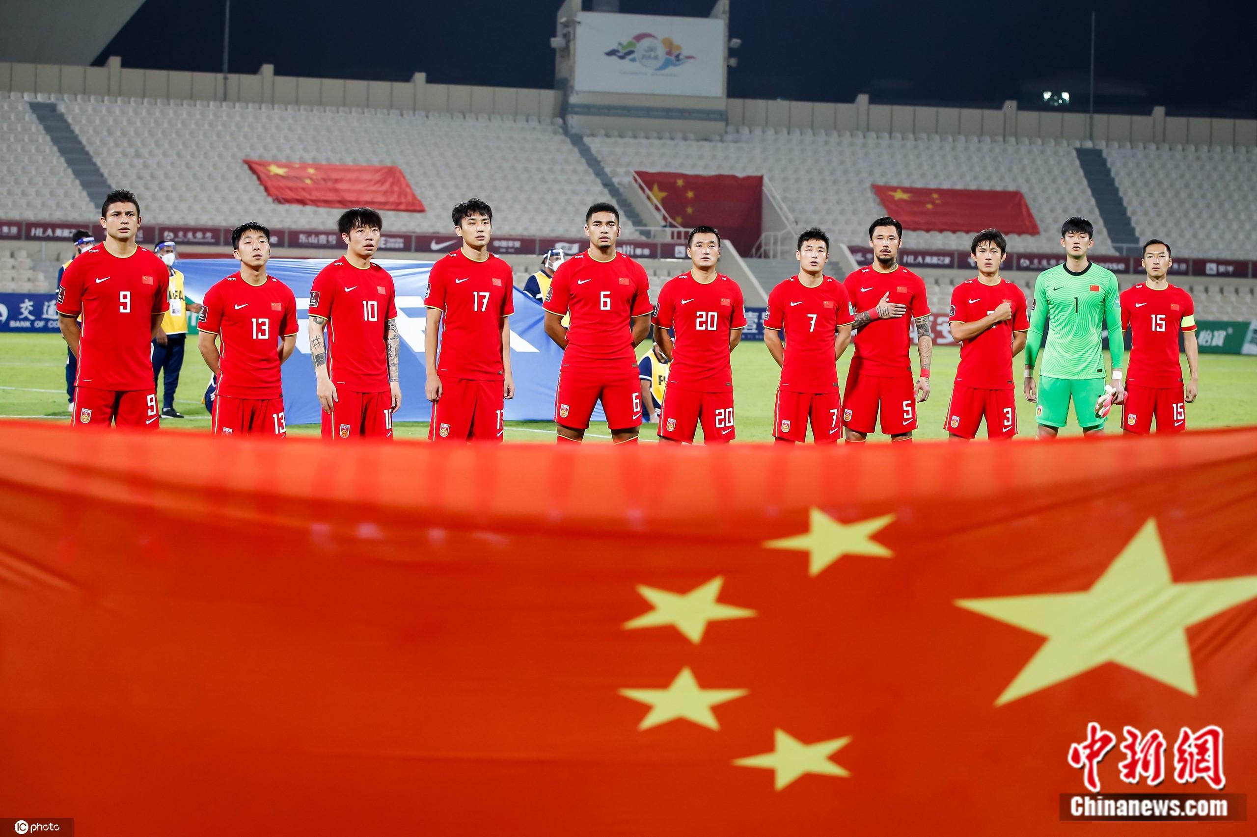 国足在世预赛40强赛中。图片来源:IC photo