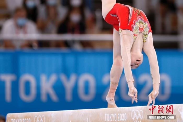图为管晨辰在比赛中。 <a target='_blank' href='http://www.chinanews.com/'>中新社</a>记者 富田 摄