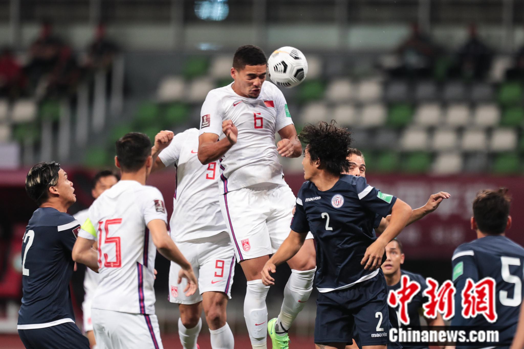 5月30日,国足坐镇主场7:0大胜关岛。图片来源:视觉中国
