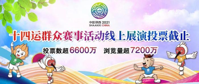 十四运群众赛事活动线上展演投票截止 投票超过6600万