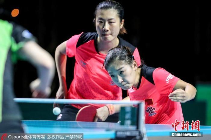 丁宁(左)及刘诗雯(右)。图片来源:Osports全体育图片社