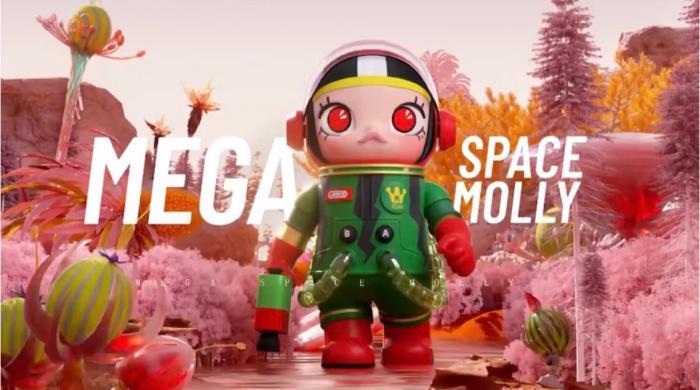 泡泡玛特推出的 MEGA珍藏系列SPACE MOLLY西瓜。 截图自泡泡玛特POPMART微信公众号