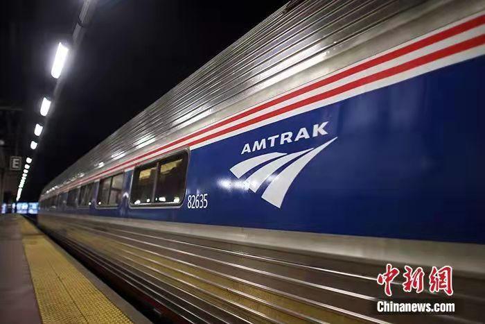 资料图为美国列车。图片来源:视觉中国