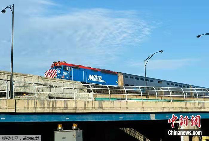 资料图:美国芝加哥的火车。