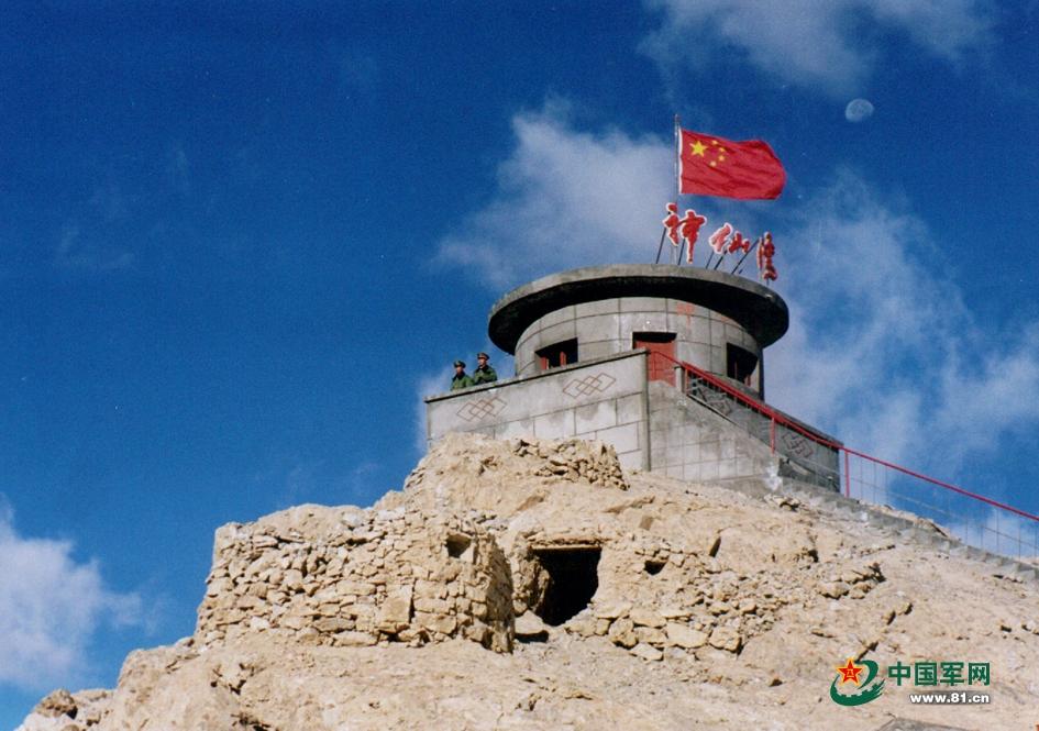 实拍解放军哨卡最高神仙湾课件耸入海拔视频高一云端图片