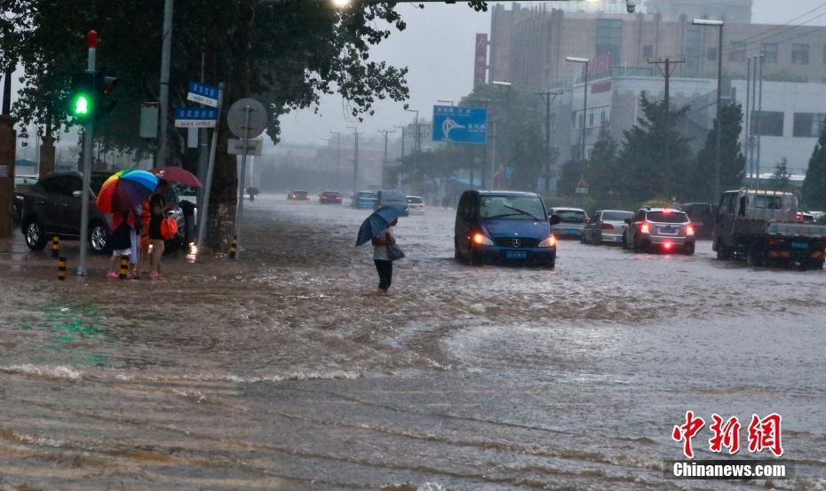 """台风""""温比亚""""登陆大连 市区开启""""看海""""模式"""
