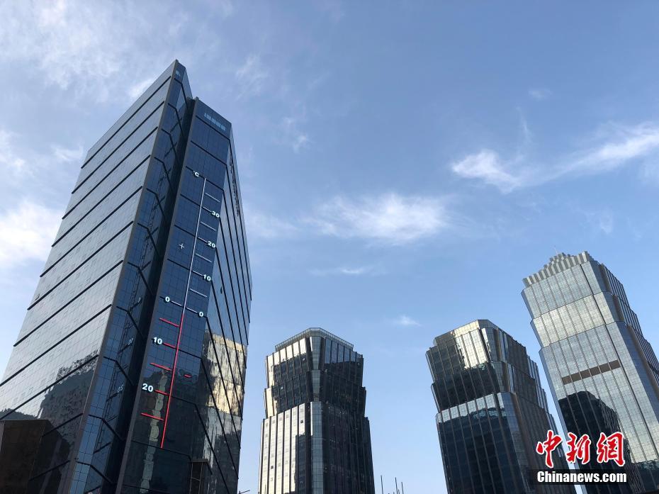 53米高温度计现身西宁 记录城市温度