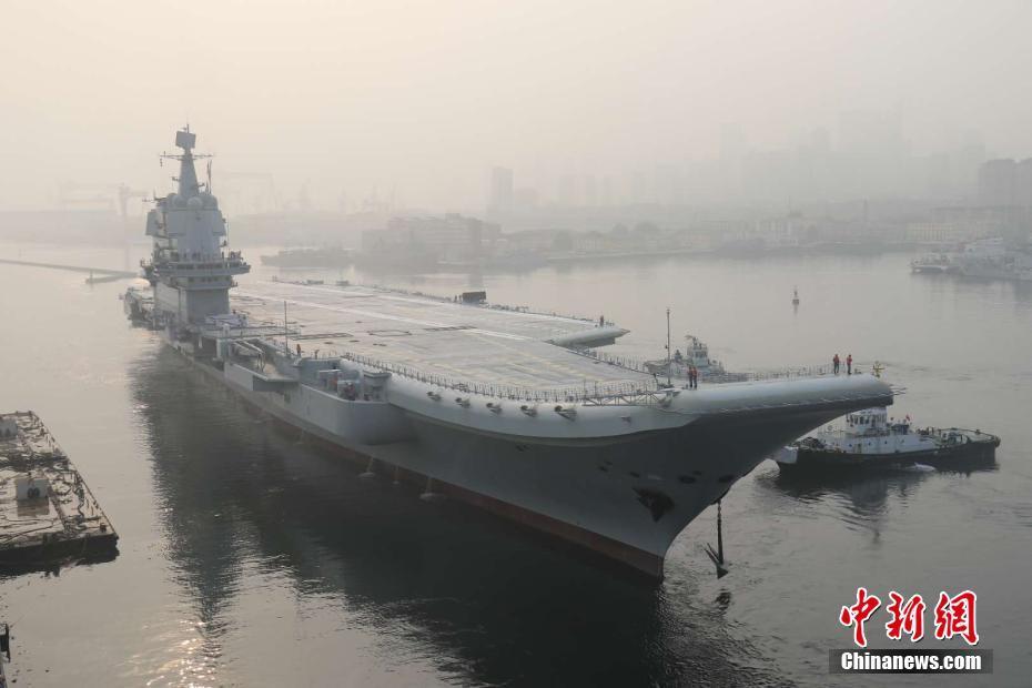 中国首艘国产航母定名山东舰 高清大片带你领略重器雄姿