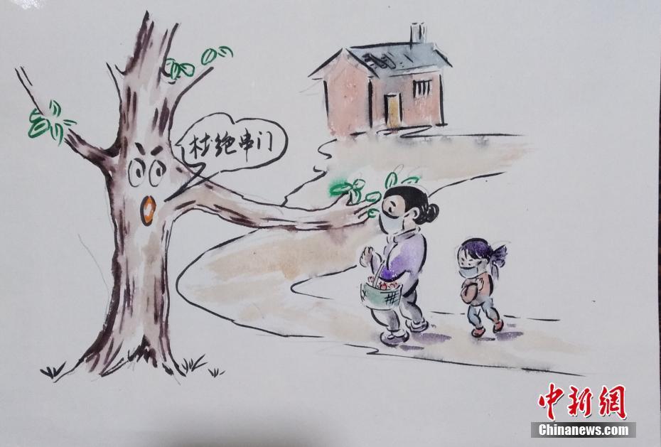 福建美术爱好者绘画宣传疫情防控