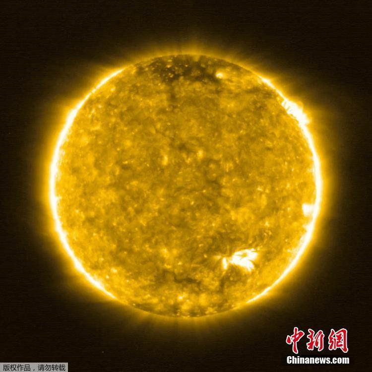 欧洲空间局发布人类历史上最近距离拍摄的太阳图像