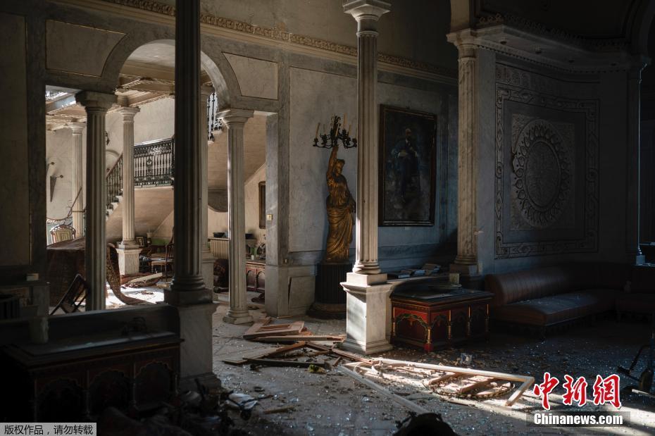 黎巴嫩160年歷史宮殿在爆炸中受損 文物化為廢墟