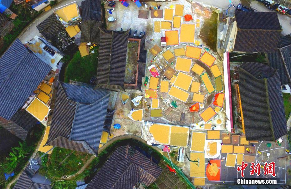 贵州雷山:苗寨房前屋后晒满秋
