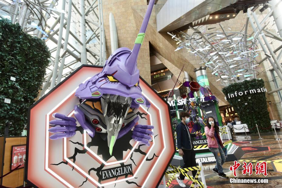 香港新世纪福音战士展览 重现2.4米EVA初号机