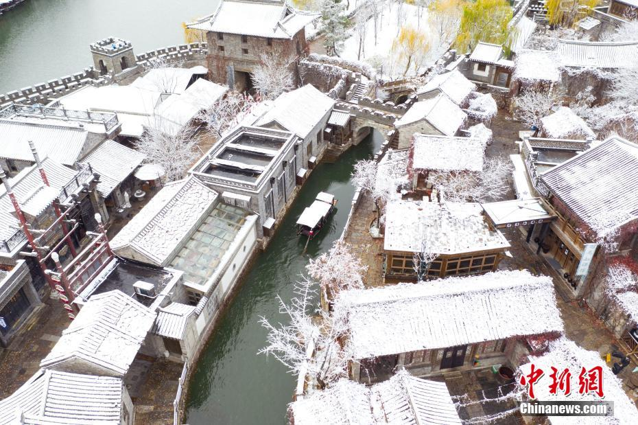 北京古北水鎮迎初雪