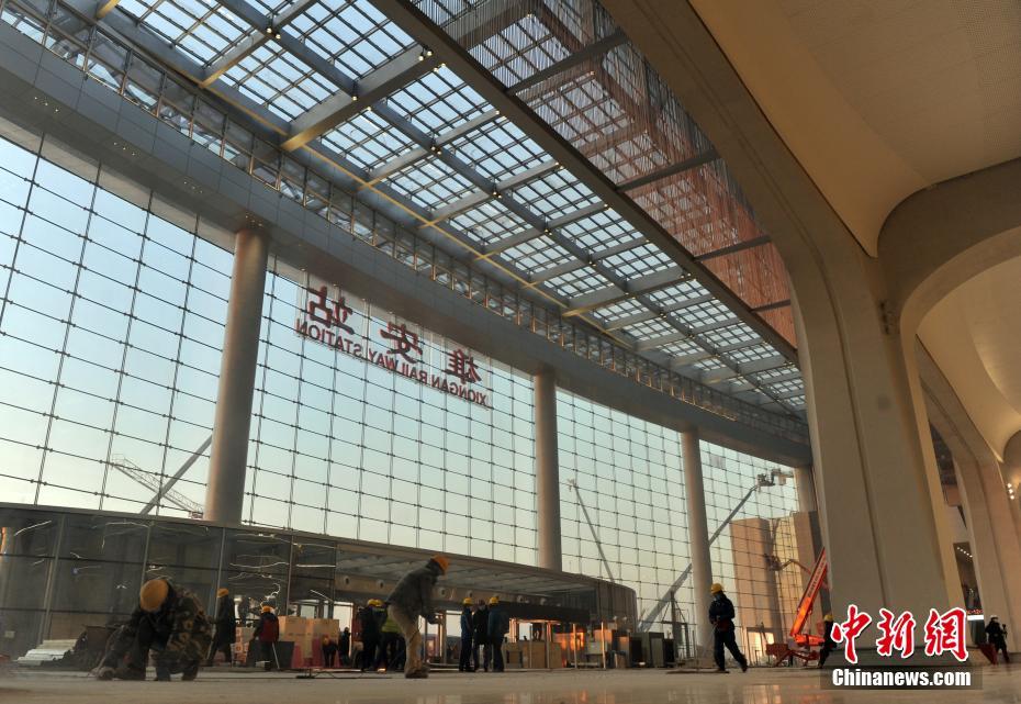京雄城际铁路雄安站即将投入使用 探访建设现场