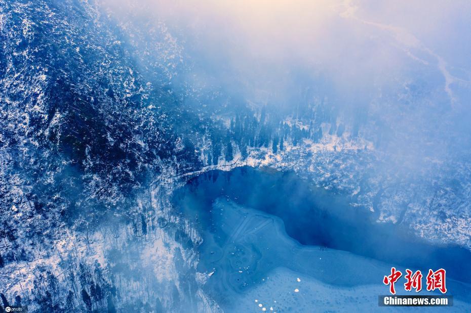 四川都江堰龙池国家森林公园云雾缭绕 美如仙境