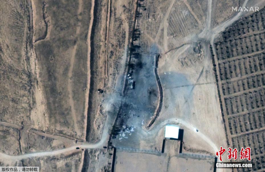 卫星拍摄叙利亚受空袭设施 轰炸前后对比明显