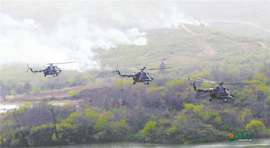 第72集團軍某陸航旅實戰化演練掠影