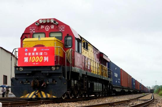 China-Europe freight train trips hit 10,000 by end-August