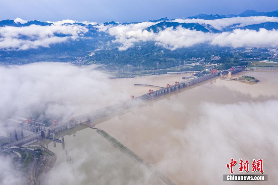受集中强降雨影响 三峡水库出现涨水