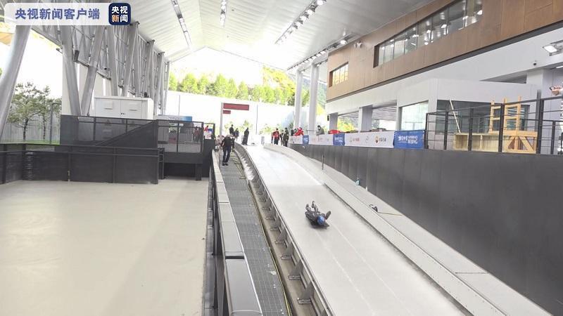 外国运动员首次体验国家雪车雪橇中心赛道
