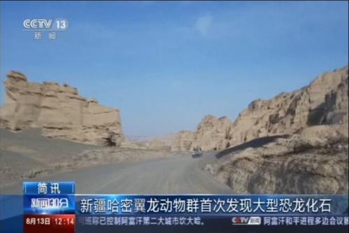 新疆哈密翼龙动物群首次发现大型恐龙化石