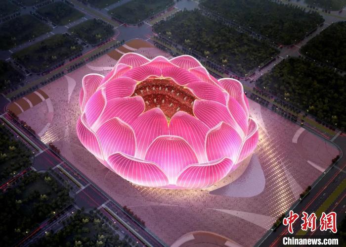 恒大4月16日发布的广州恒大足球场夜景鸟瞰图。恒大集团