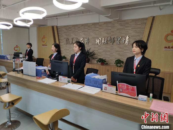 长沙桃花井社区公共服务中心。 王昊昊 摄