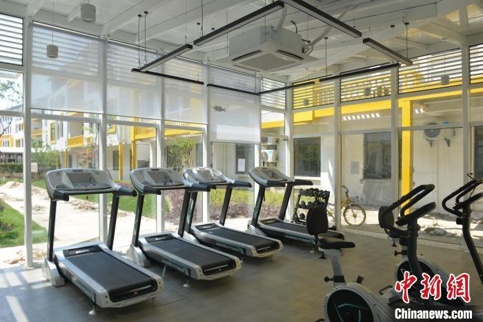 图为:未来社区内健身房。 商泽阳 摄
