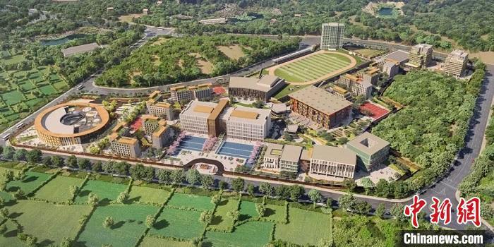 广州斐特思公学项目效果图。增城区委宣传部 供图