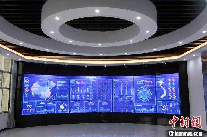 图为河口跨境电商物流产业园大数据服务平台 杨会国 摄