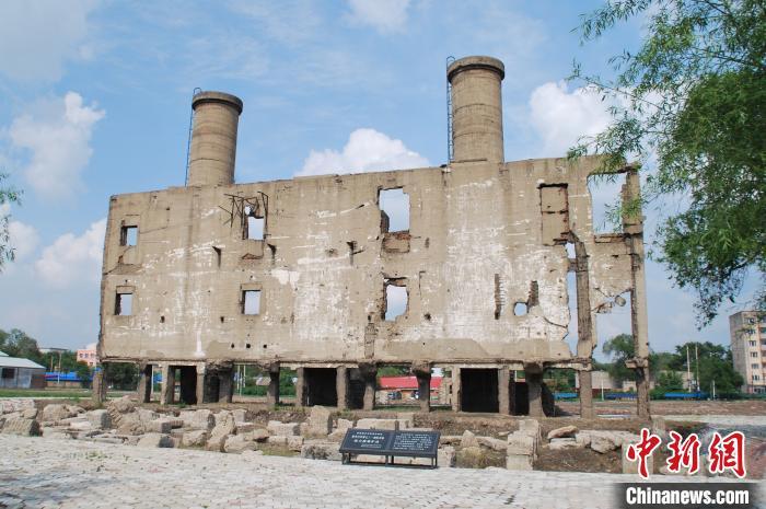 黑龍江侵華日軍第七三一部隊舊址鍋爐房遺址 國家文物局供圖