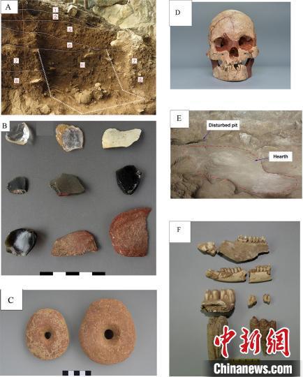 娅怀洞遗址出土人类化石和文化遗存。中科院古脊椎所 供图