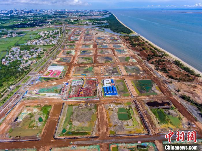 海口江东新区高强度完善基础设施15家名企已进驻CBD