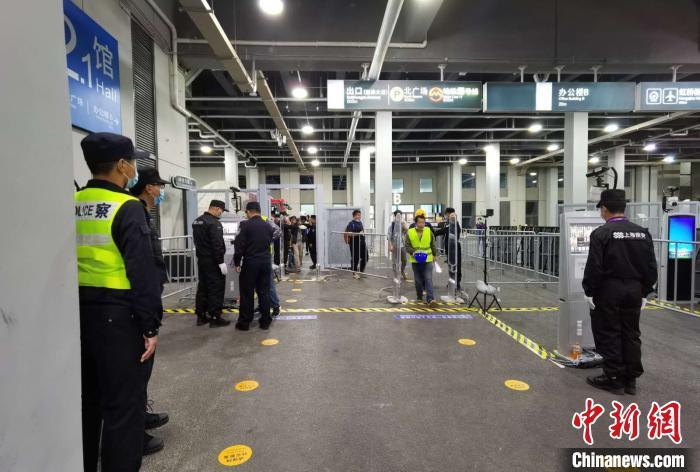 """""""更便利""""是本届进博会上海警方防控安保措施的亮点。上海警方供图"""